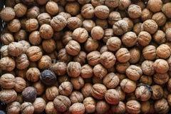 Текстура предпосылки грецкого ореха стоковые фотографии rf