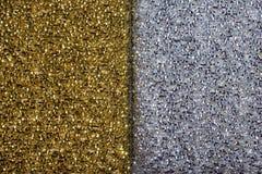 текстура предпосылки золотистая серебряная стоковое изображение
