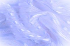 Текстура предпосылки, картина пастельно Голубая silk ткань с lig стоковое фото rf
