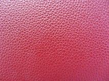 текстура предпосылки кожаная красная Стоковое фото RF