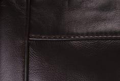 текстура предпосылки коричневая кожаная Стоковая Фотография RF
