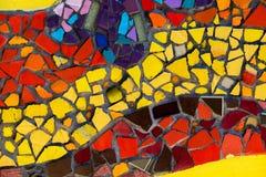 Текстура предпосылки плитки мозаики цвета стены Стоковые Фотографии RF