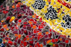 Текстура предпосылки плитки мозаики цвета стены Стоковое Изображение