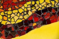 Текстура предпосылки плитки мозаики цвета стены Стоковое фото RF