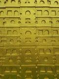 Текстура предпосылки стены виска архитектуры искусства золота стоковое изображение rf