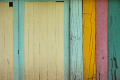 Текстура предпосылки цвета стены деревянная Стоковые Фотографии RF