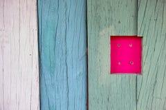 Текстура предпосылки цвета стены деревянная Стоковые Изображения