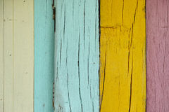 Текстура предпосылки цвета стены деревянная Стоковая Фотография RF