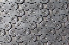 Текстура предпосылки цепи ролика велосипеда Стоковая Фотография RF