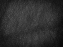 текстура предпосылки черная кожаная естественная Стоковые Фото