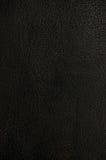 текстура предпосылки черная темная кожаная естественная Стоковая Фотография RF