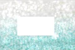 Текстура предпосылки яркого блеска абстрактной праздничной бирюзы серебряная светя с белой рамкой со смычками ленты Сделанный для иллюстрация вектора