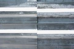 Текстура & предпосылка стены оцинкованной стали Стоковая Фотография