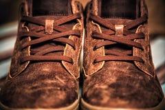 Текстура предпосылки ботинок людей идущих Стоковое Изображение RF