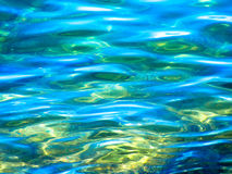 Текстура предпосылки воды пляжа Окинавы Стоковая Фотография RF