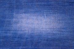 Текстура предпосылки голубых джинсов Стоковая Фотография RF