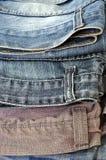 Текстура предпосылки джинсовой ткани голубых джинсов Стоковое Изображение RF