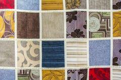 Текстура предпосылки заплатки различных частей ткани Стоковые Фотографии RF