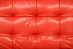 текстура предпосылки кожаная естественная красная Стоковые Фото