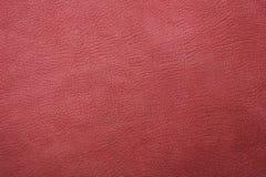 текстура предпосылки кожаная естественная красная Стоковое Изображение