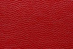 текстура предпосылки кожаная естественная красная Стоковая Фотография RF