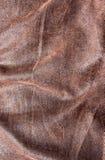 текстура предпосылки коричневая кожаная Стоковые Изображения