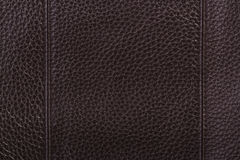 текстура предпосылки коричневая кожаная Стоковое Изображение