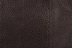 текстура предпосылки коричневая кожаная Стоковые Фото