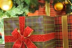 Текстура предпосылки коробки праздничного подарка Стоковое Изображение