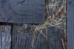 Текстура предпосылки пола старого амбара деревянная Стоковые Фотографии RF