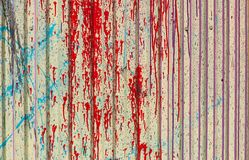 Текстура предпосылки серый цвет multi цвета красный серый зеленый желтый голубой, лист металла, профиль Стоковая Фотография RF