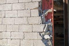 Текстура предпосылки современной серой бетонной стены сделала блоки Стоковое Изображение RF
