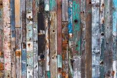 Текстура предпосылки старых деревянных планок Стоковые Фото