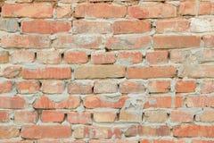 Текстура предпосылки старых стен яркого красного кирпича Стоковая Фотография RF