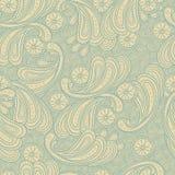 Текстура предпосылки флористического doodle безшовная Стоковые Изображения