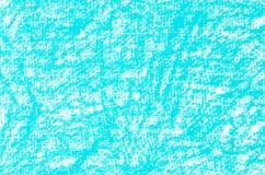 Текстура предпосылки чертежей crayon бирюзы Стоковая Фотография RF
