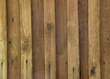 Текстура пригвозженных деревянных панелей Стоковая Фотография