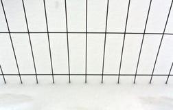 Текстура проволочной изгороди и снега Стоковые Изображения RF