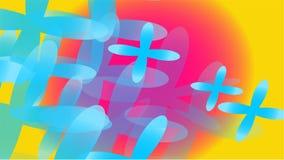 Текстура прозрачного голубого абстрактного объемного модного волшебства различных форм цветков светлого воздуха космических 4-лис иллюстрация вектора