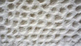 Текстура пузыря на отделке стены белого цемента Стоковое Изображение
