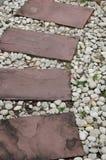Текстура пути кирпича и камня Стоковое Изображение