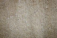 Текстура пушистого коричневого цвета полотенец хлопка Стоковое фото RF