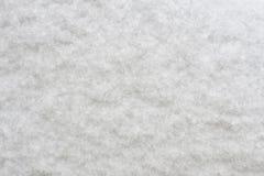 Текстура пушистых кристаллов снега Стоковая Фотография