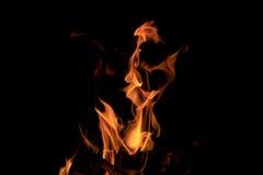 Текстура пламени огня пламени Стоковое Изображение