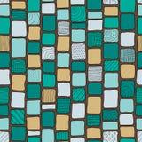 Текстура племенных кирпичей стиля заплатки безшовная, пастельные цвета Стоковая Фотография