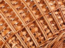 Текстура плетеной корзины Стоковая Фотография