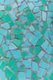 Текстура плитки мозаики Teal стоковые изображения rf