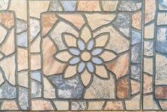Текстура плиточного пола цветка для предпосылки Стоковое Фото