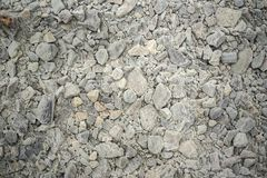 Текстура различных размеров белых камней, Исландия Стоковые Изображения
