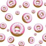 Текстура различных donuts размера Стоковые Фотографии RF